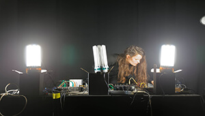 EWA Justka, enquiries into the materiality of sound and light