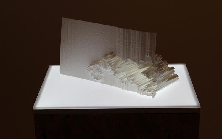 Katy Connor. Fragment no.1 (2012) Sintered Nylon-12