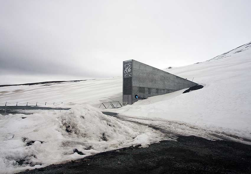 FIG.3 Svalbard Global Seed Vault, Norway: the only visible part of the structure Courtesy: © Wikimedia Commons