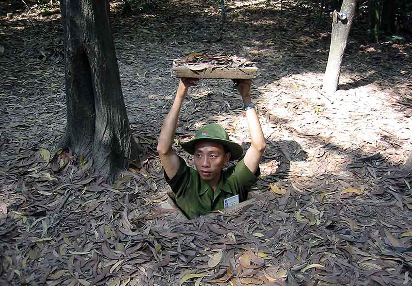 FIG.4 Cu-chi Tunnels, Vietnam: camouflage and the art of War Courtesy: © Thomas Schoch