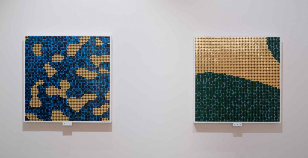 Climate Change Series, Flip Discs art installation, BREAKFAST