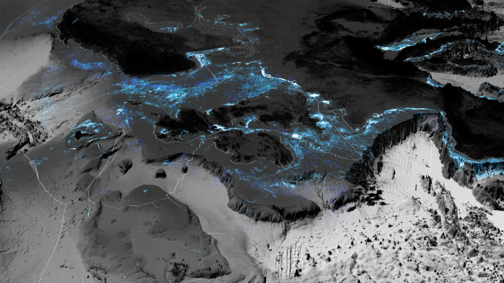 Territorial Agency, Oceans in Transformation. The Architecture of the Continental Shelf, 2019–2020. The North Atlantic continual shelf of Europe, Remote sensing data, © Territorial Agency