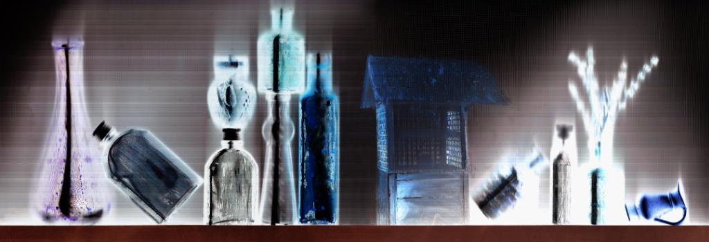 Éva Mayer: Forwarded Message IV. 59x154 cm, unique mixed media, 2020,