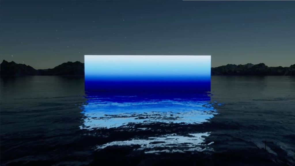 Krista Kim, 8×8 XR (still), 2021, 3-08, in collaboration with Jose Igarza, music by Ligovskoï , courtesy the artist and Institut